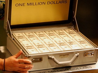 One Million Dollars in a briefcase